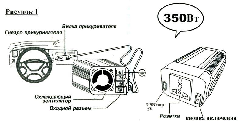 Схема инвертора содержит