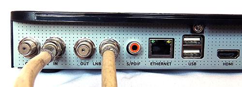 Подключение антенны к приставке Триколор GS E501