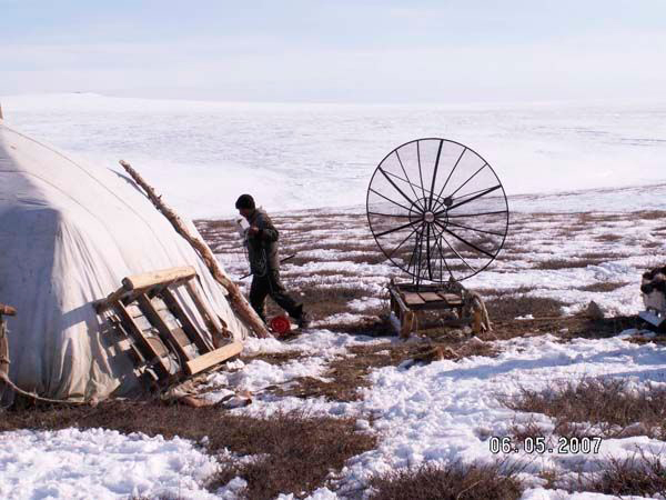 Установка спутниковой антенны на Чукотке