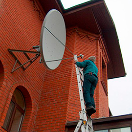 Установка спутниковых антенн и систем видеонаблюдения